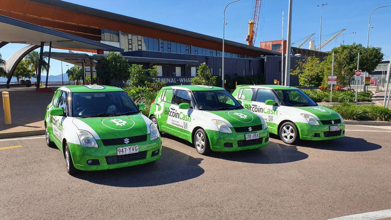 BitcoinBCH.com's fleet of promotional vehicles