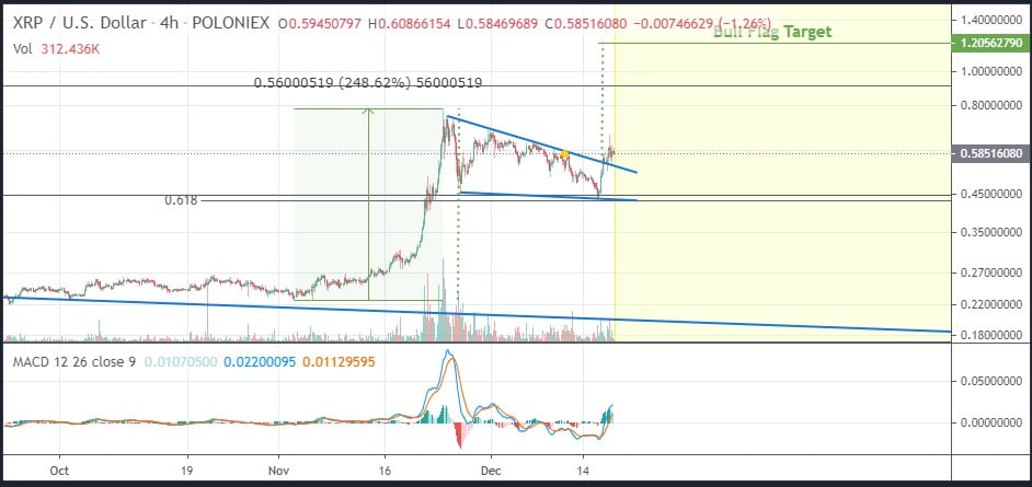 XRP's Bull Flag on the Daily Chart Could Send it to $1.20 - Analyst 14
